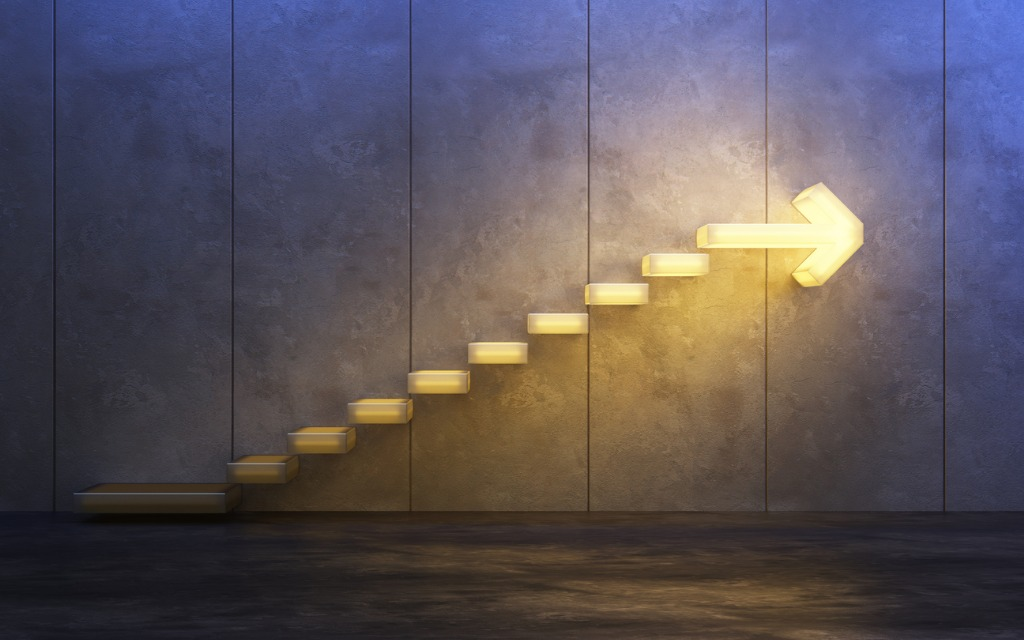job security blog with stairs going up